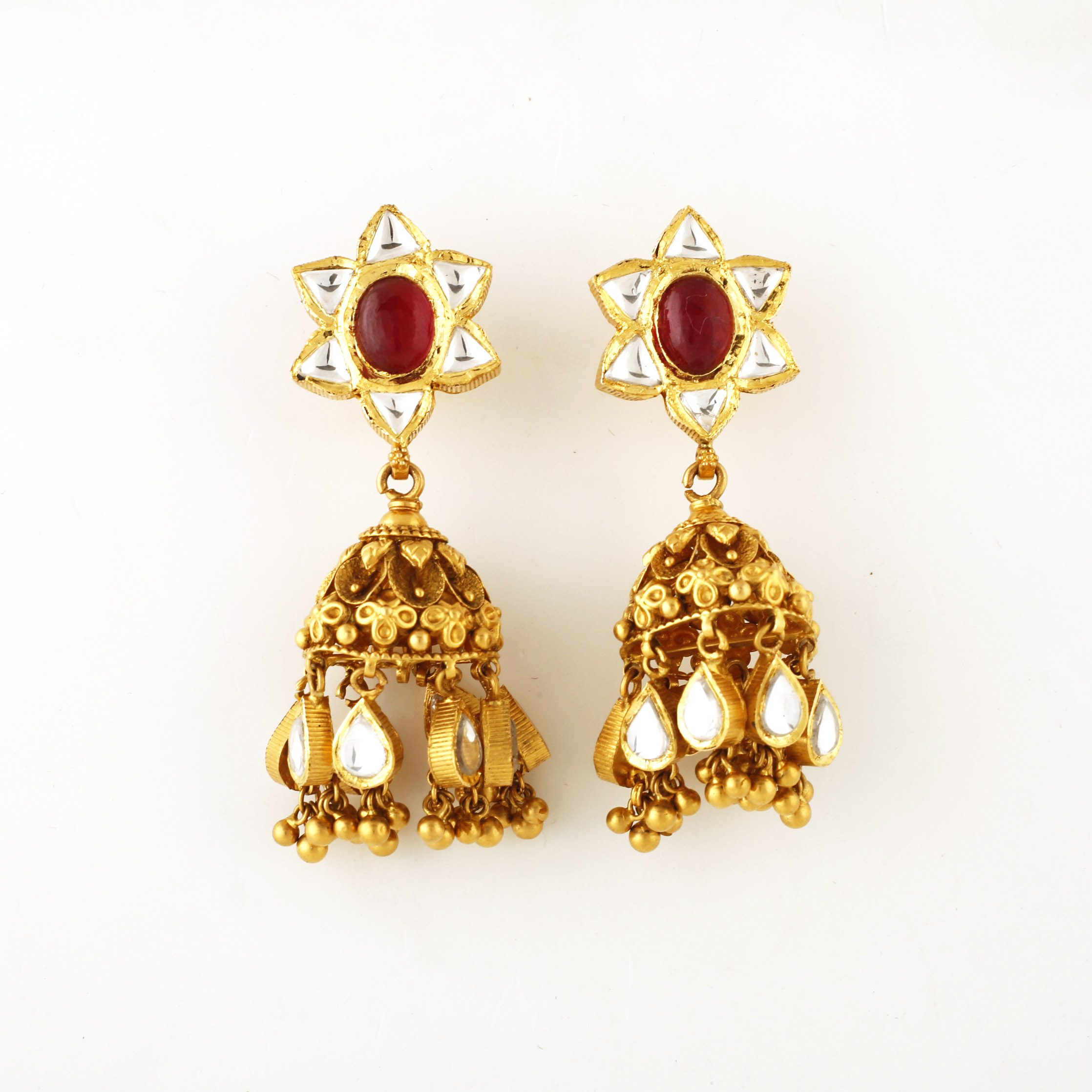 product earrings gold gp opunti colombian emerald lombia round co
